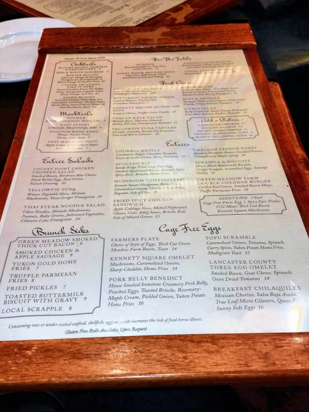 White Dog Cafe Brunch Menu